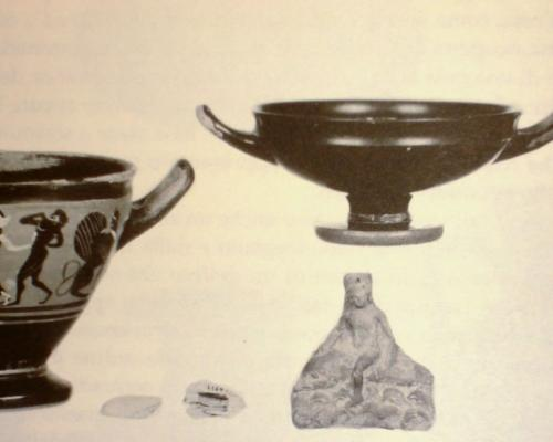 6. Patarino property, Le Grotte, Castellaneta (Province of Taranto): set of ceramics from the 4th or early 5th century BC.
